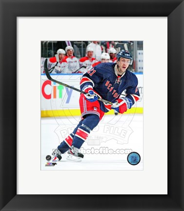 Framed Derek Stepan on ice 2012-13 Print