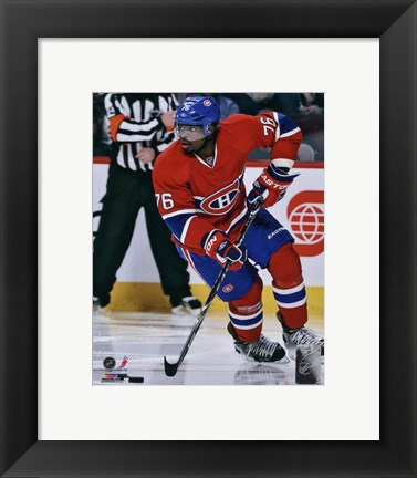 Framed P.K. Subban in action 2012-13 Print