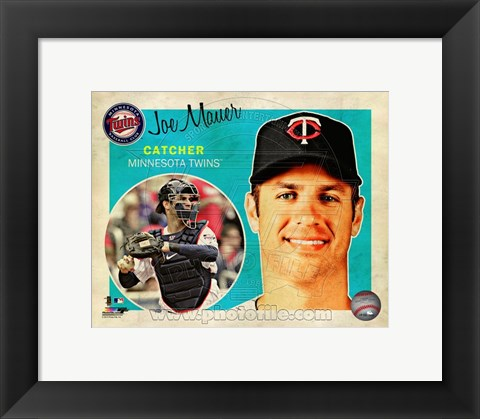 Framed Joe Mauer 2013 Studio Plus Print