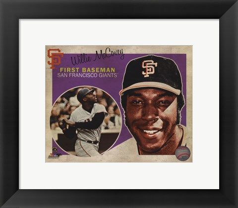 Framed Willie McCovey 2013 Studio Plus Print