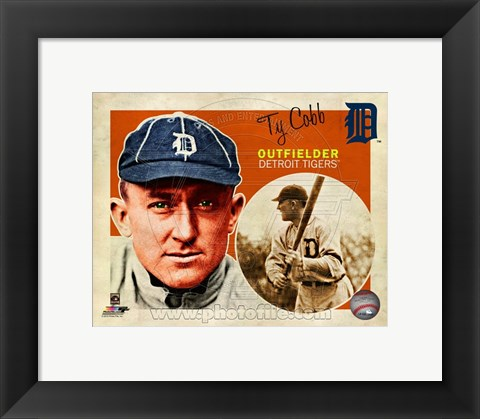 Framed Ty Cobb 2013 Studio Plus Print