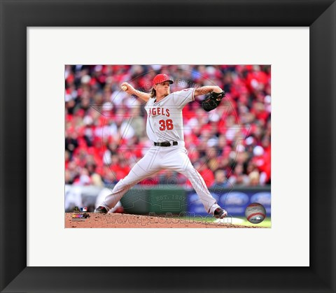Framed Jered Weaver 2013 Print