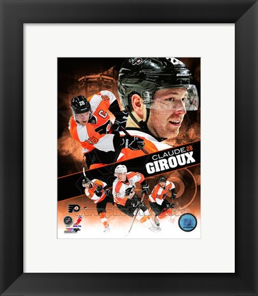 Framed Claude Giroux 2013 Portrait Plus Print