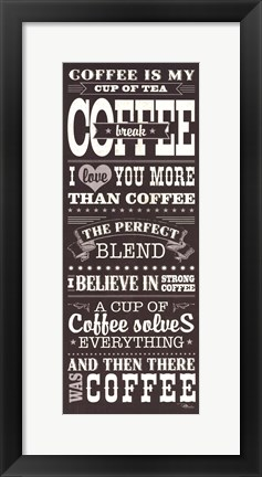 Framed Coffee Lovers I Print