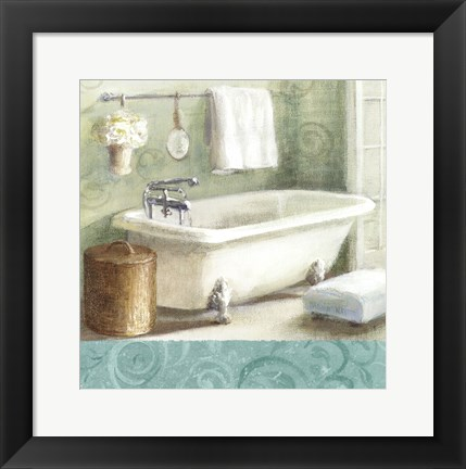 Framed Refresh Bath Border I Print