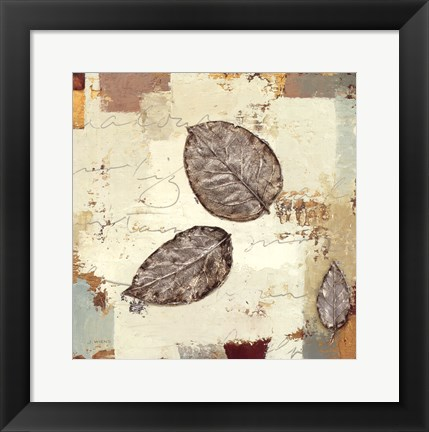 Framed Silver Leaves IV Print