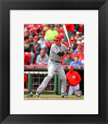 Framed Josh Hamilton Awaiting Baseball Pitch Print