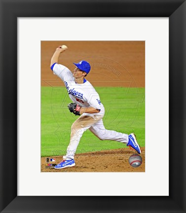 Framed Zack Greinke in Action 2013 Print