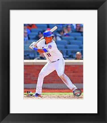 Framed Ruben Tejada batting 2013 Print