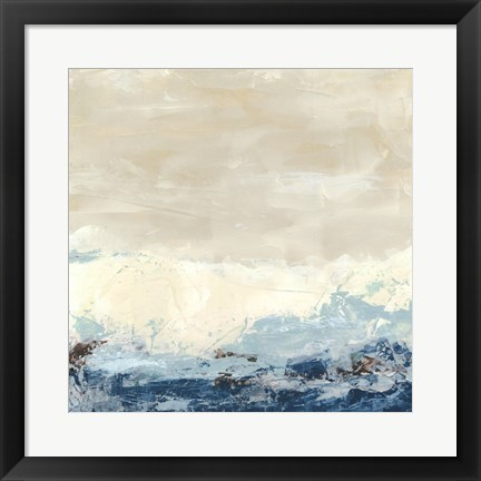 Framed Coastal Currents II Print