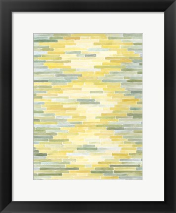 Framed Green & Yellow Reflection II Print