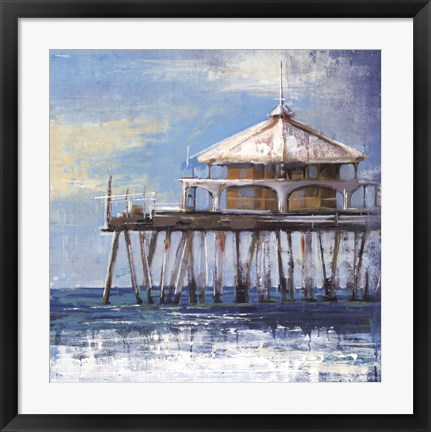 Framed Boardwalk Pier Print