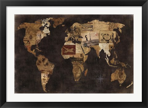 Framed Faraway Places Print