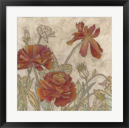 Framed Rising Sun Blooms I Print