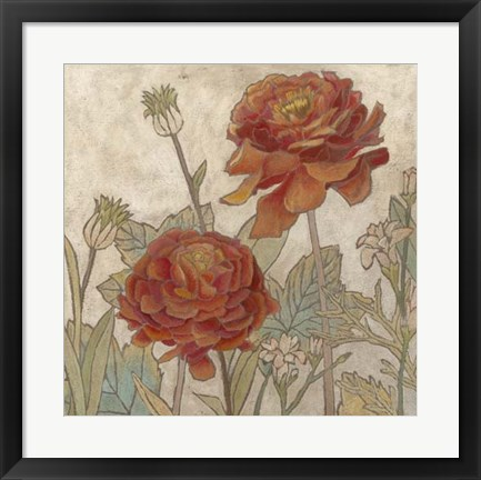 Framed Rising Sun Blooms II Print