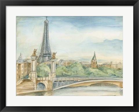 Framed Parisian View Print