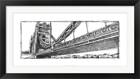 Framed Study of London Print