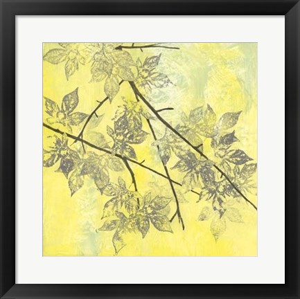 Framed Fluttering Maple I Print