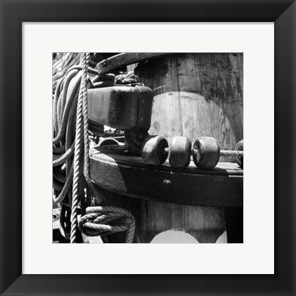 Framed Ship Shape III Print