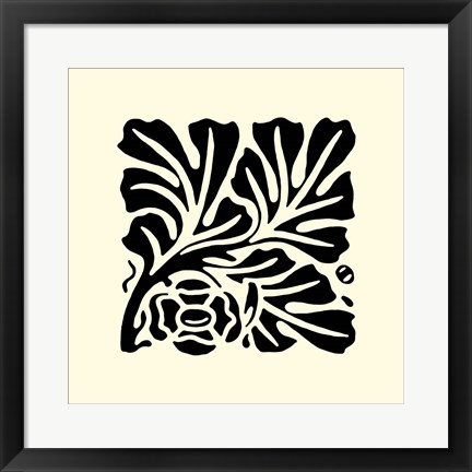 Framed B&W Graphic Beauty III Print