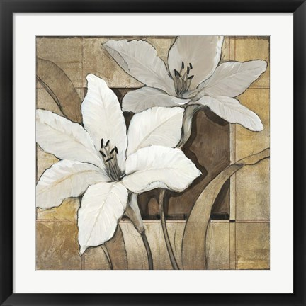 Framed Non-Embellished Lilies II Print