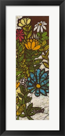 Framed Batik Flower Panel II Print