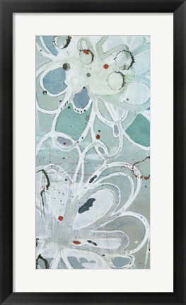 Framed Flowers Abstracted I Print