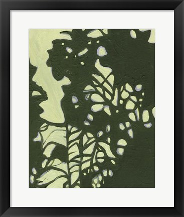 Framed Exotic Silhouette II Print
