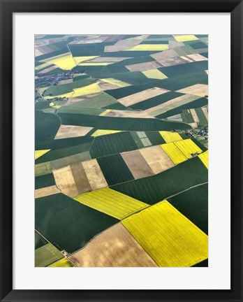Framed Approaching Paris I Print