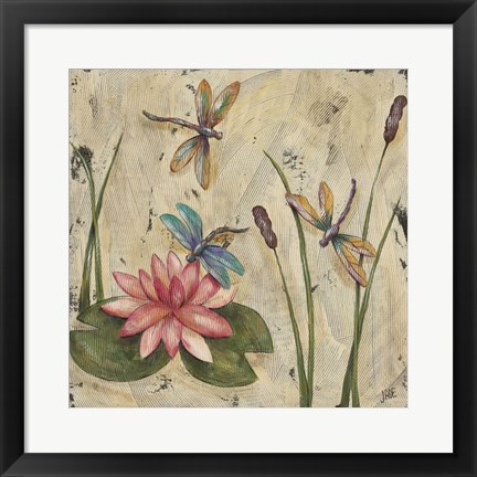 Framed Dancing Dragonflies II Print