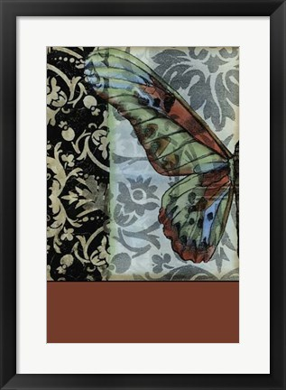 Framed Butterfly Tapestry I Print