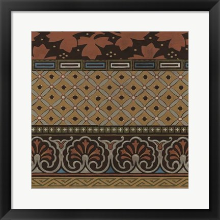Framed Heirloom Textile II Print