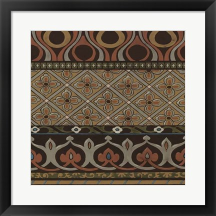 Framed Heirloom Textile III Print