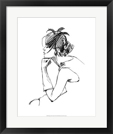 Framed Elegant Fashion Study II Print