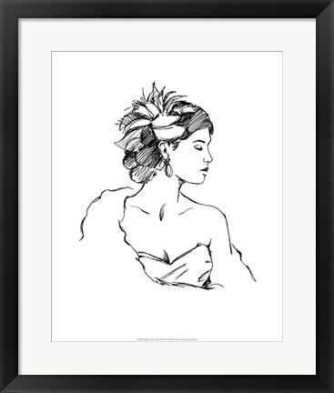 Framed Elegant Fashion Study III Print