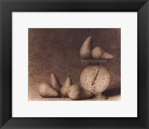 Framed Pears with Scale Print