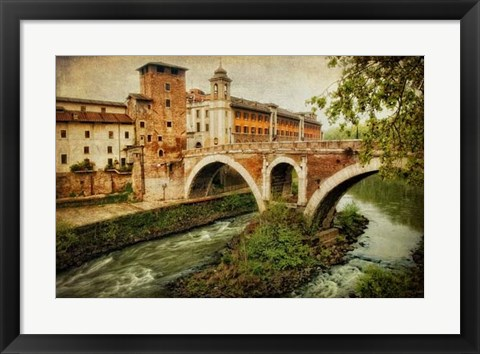 Framed Looking West at Ponte Fabricio Print