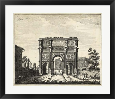 Framed Constantine's Arch Print