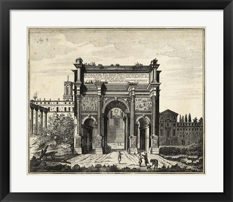 Framed Arch at the Roman Forum Print