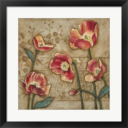 Framed Travertine Garden II Print