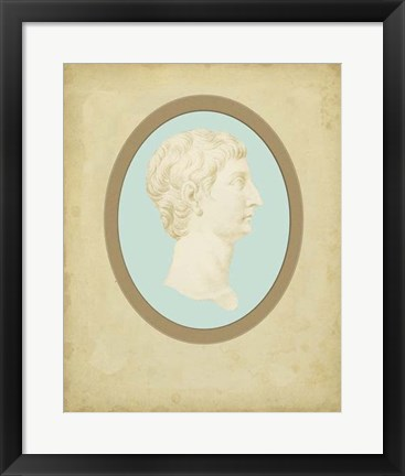 Framed Spa Cameo I Print