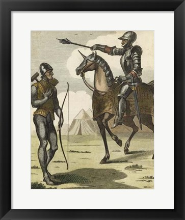 Framed Armored Soldiers II Print