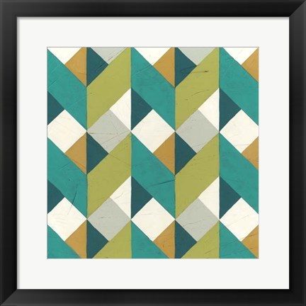Framed Chevron Illusion II Print