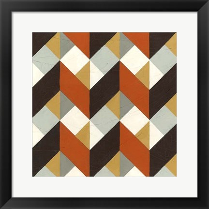 Framed Chevron Illusion IV Print