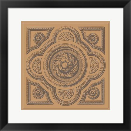 Framed Terra Cotta Tile VI Print