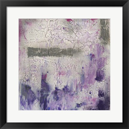 Framed Dusty Violet I Print