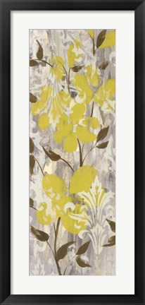 Framed Buttercups on Grey I Print