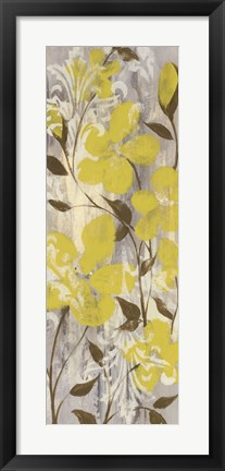 Framed Buttercups on Grey II Print