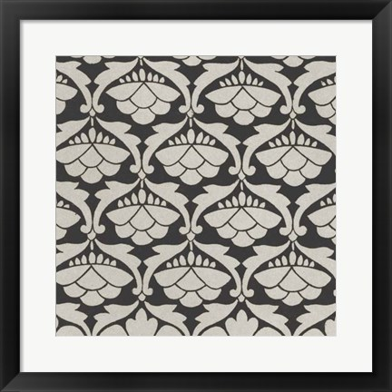 Framed Black & Tan Tile III Print