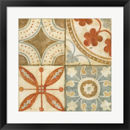 Framed Palace Tiles II Print